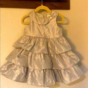 Gymboree formal silver dress
